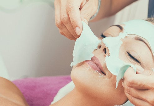 Peeling of facial mask