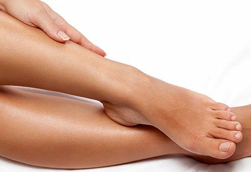 Silky smooth female legs