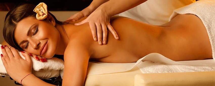 Massage Therapist doing healing massage