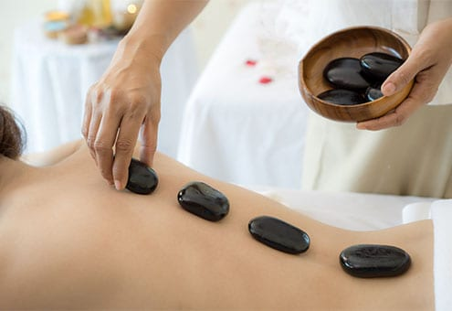 back stone therapy massage